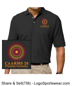 CAARMS 20 Black Polo Shirt Design Zoom